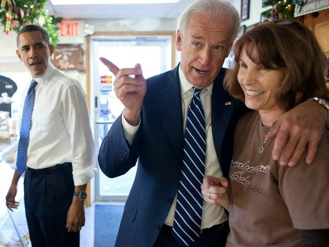 Indiana, Nov. 23, 2010. Dropping by the Gingerbread House Bakery in Kokomo with the Vice President.