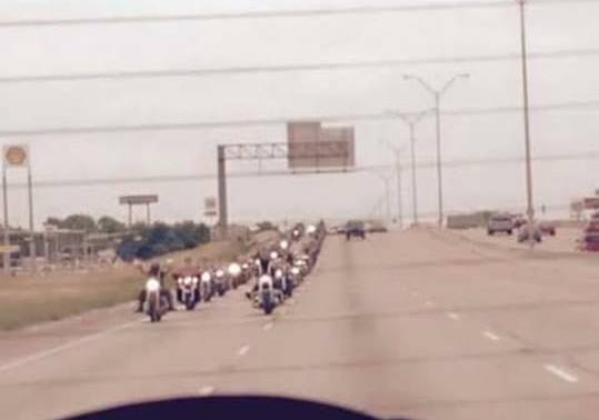 Bikers heading to Waco on IH-35. Facebook Photo: Kelly Taliaferro-Mann