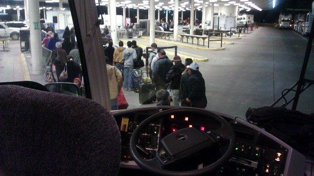 Bus inspection - US Border Patrol