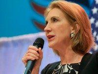 Carly Fiorina speaks at the Iowa Faith & Freedom event in Waukee, Iowa.