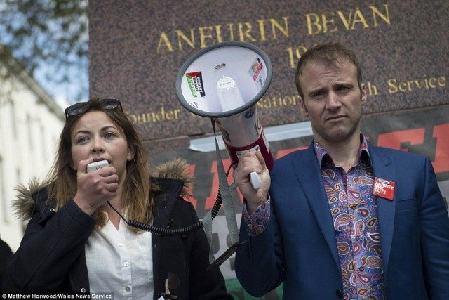 Charlotte Church protests