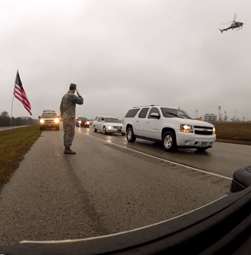 Chris Kyle Funeral Procession - Midlothian - YouTube Screenshot Kevin Kelly