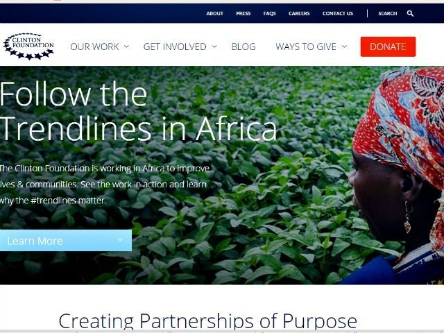 Clinton Foundation Website