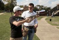 Creighton at shooting range