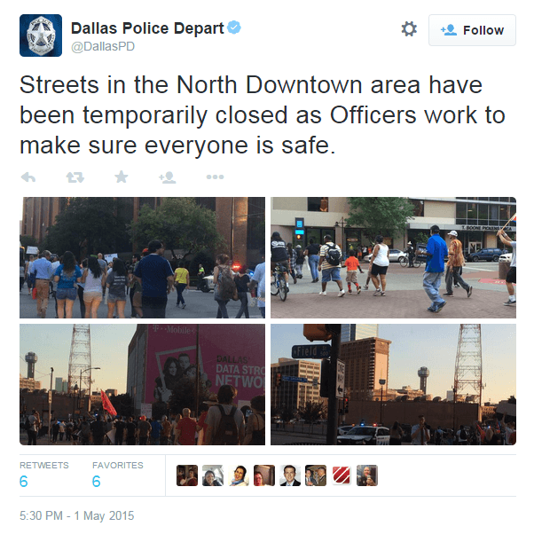 Dallas PD Protect Protesters