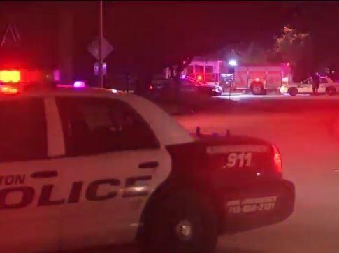 HPD Crime Scene - Officer Martin Killed - ABC13 Screenshot
