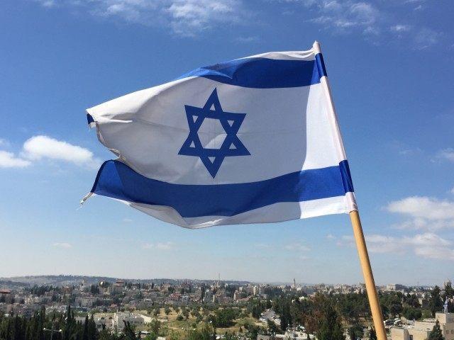 Israel flag (Joel Pollak / Breitbart News)