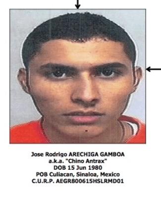 "Jose Rodrigo ""El Chino Antrax"" Arechiga Gamboa - US Treasury Photo"