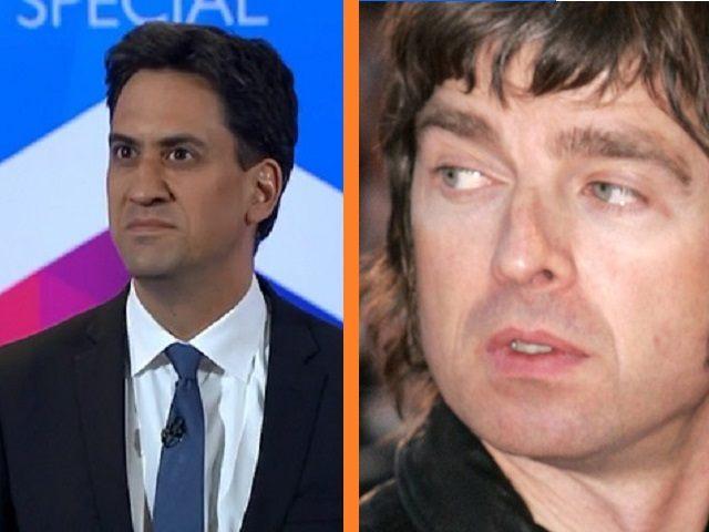 Noel Gallagher Ed Miliband Reuters