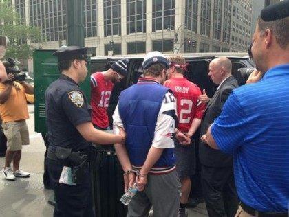 Patriots Fans Arrested at NFL Headquarters