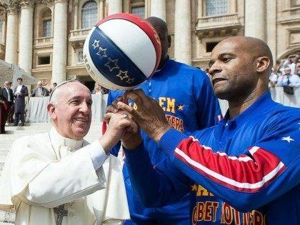 Pope Francis Harlem Globetrotters