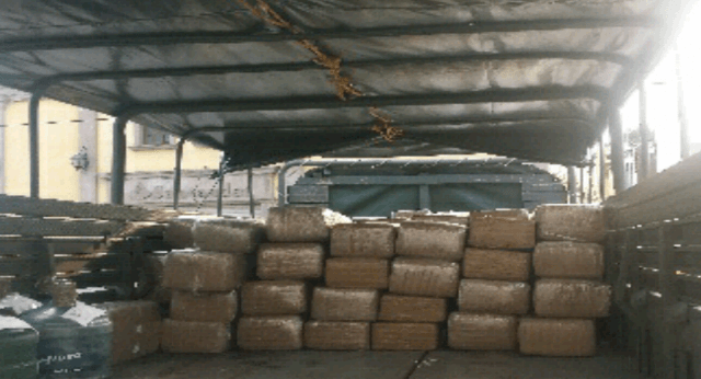 Drugs seized by Mexican authorities near the Texas border.