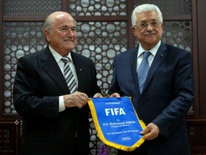 Sepp Blatter Mahmoud Abbas AP