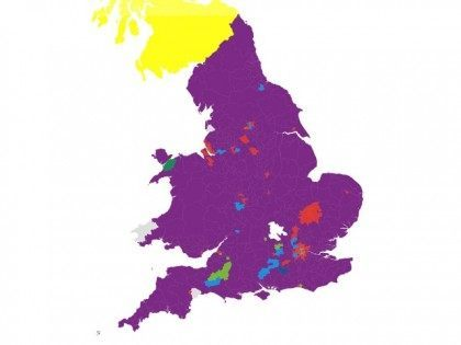 UKIP Purple Map UK