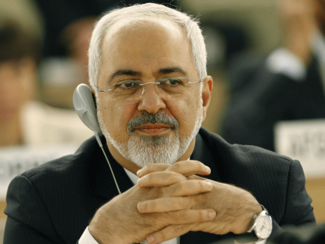 Zarif at Human Rights Counctil (Denis Balbouse / Reuters)