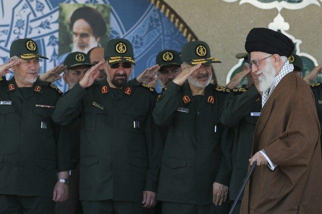 Ali Khamenei, Hossein Salami, Mohsen Rezaei, Yahya Rahim Safavi