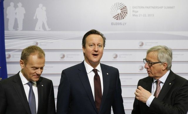 David Cameron, Jean-Claude Juncker, Donald Tusk
