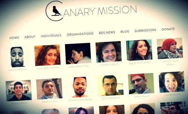 There's a website called 'Canary Mission'. I don't know who's …