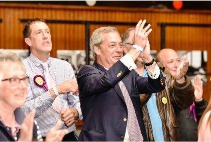 Nigel Farage applauds UKIP council success in Thanet