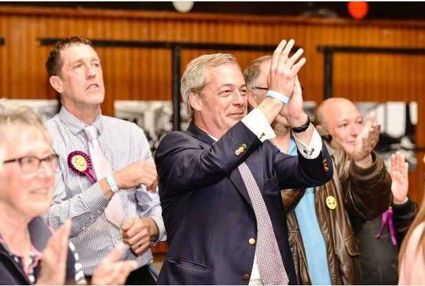 Nigel Farage applauds UKIP council success in Thanet