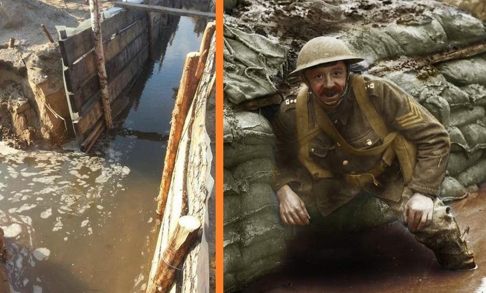 flooded trenches