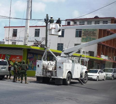 Mexican authorities take down a complex surveillance system set up by the Gulf Cartel in the border city of Reynosa