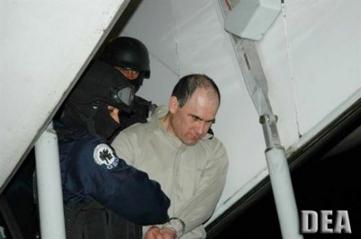 Osiel Cardenas, the one time top capo of the Gulf Cartel seen during his extradition into the U.S. to face drug charges.
