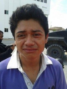Another suspected Gulf Cartel member who appears to cry after his arrest