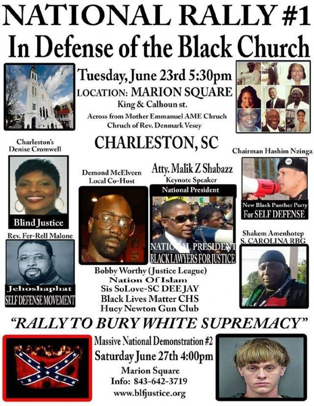 New Black Panthers Announce Two Charleston Rallies For