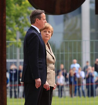 German Chancellor Angela Merkel Meets U.K. Prime Minister David Cameron