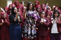 BRITAIN-US-DIPLOMACY-WOMEN-EDUCATION