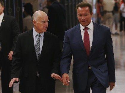 Jerry Brown-Schwarzenegger (Justin Sullivan / Getty)