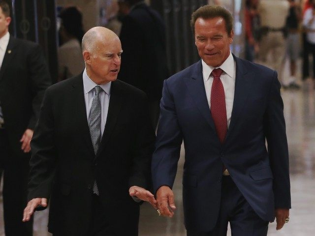 Jerry Brown-Schwarzenegger (Justin Sullivan / Getty)