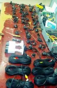 Mexican authorities seized 39 surveillance cameras and other equipment used by the Gulf Cartel