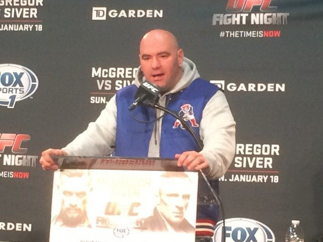 Dana White in Boston Jan 2015