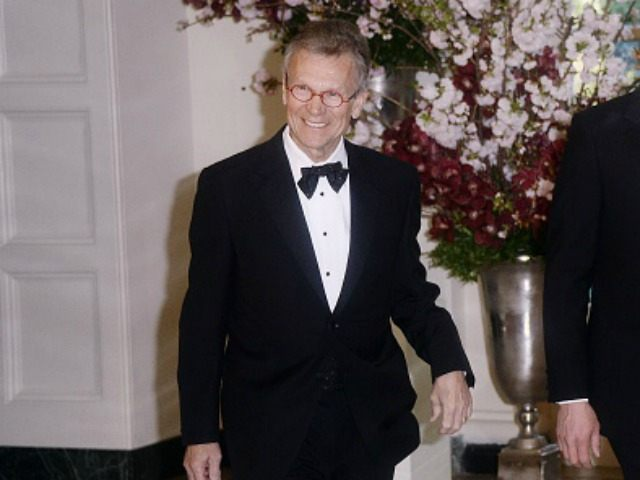 Tom Daschle, Former U.S. Senate Majority Leader and Nathan Daschle arrive for the state dinner in honor of Japanese Prime Minister Shinzo Abe and wife Akie Abe April 28, 2015 at the Booksellers area of the White House in Washington, DC. The Japanese Prime Minister and his wife are on …