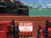 Fenway Foul Balls and Bats Hurt