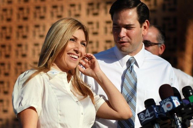 Senate Republican Nominee Marco Rubio's Wife Cast Her Vote