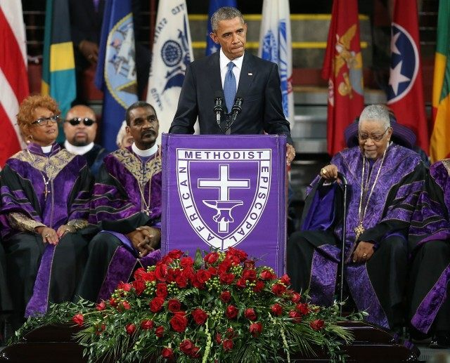 President Obama Joins Mourners At Funeral Of Rev. Clementa Pinckney
