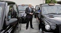 London Mayor Boris Johnson talks to a bl