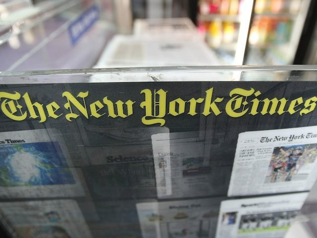 NEW YORK - JULY 23: A New York Times newsrack is seen July 23, 2008 in New York City. The Times is set to raise the daily newsstand price to $1.50 August 18 after posting an 82 percent decline in second quarter profits. (Photo by Mario Tama/Getty Images)