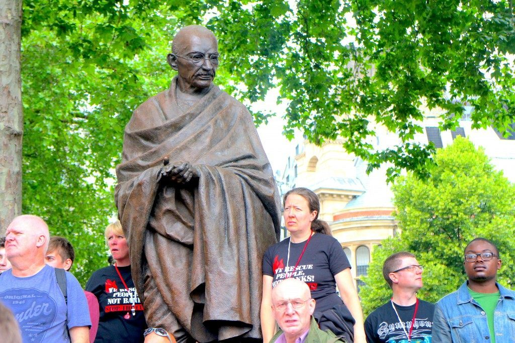 Gandhi looks on  (Raheem Kassam/Breitbart London)