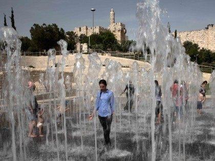 Jerusalem water fountain (Menahem Kahana / AFP / Getty)