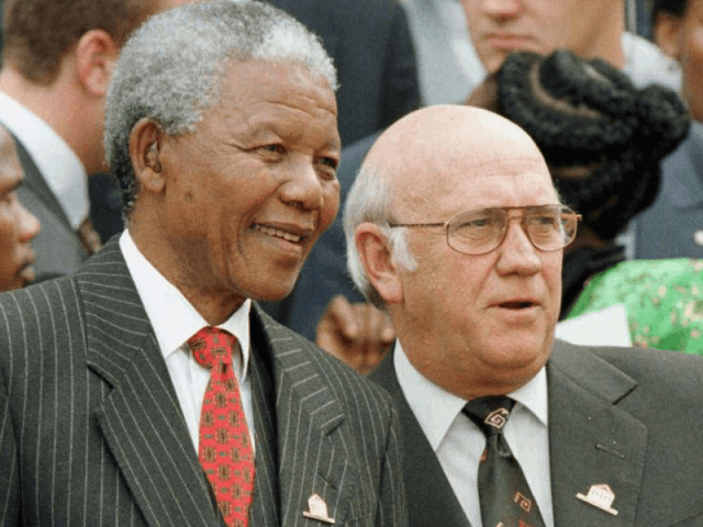 Mandela and De Klerk (Associated Press)