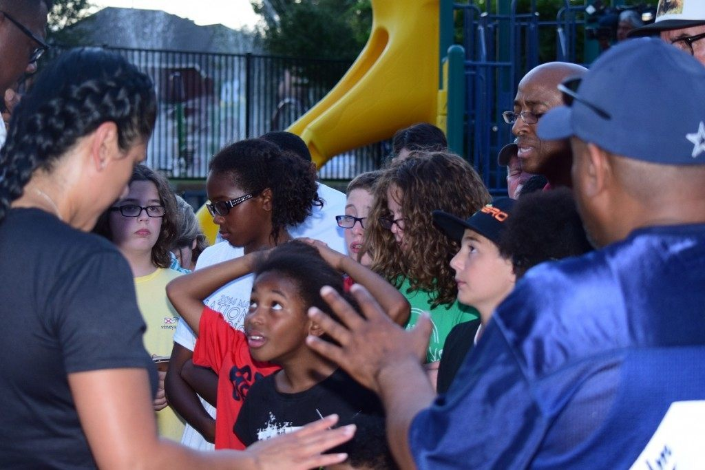Children of McKinney's Craig Ranch community receive prayer from local pastors. (Photo: Breitbart Texas/Bob Price)