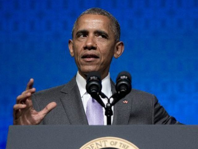 "President Barack Obama gestures as he speaks to the Catholic Hospital Association Conference at the Washington Marriott Wardman Park in Washington, Tuesday, June 9, 2015. Obama declared that his 5-year-old health care law is firmly established as the ""reality"" of health care in America, even as he awaits a Supreme …"