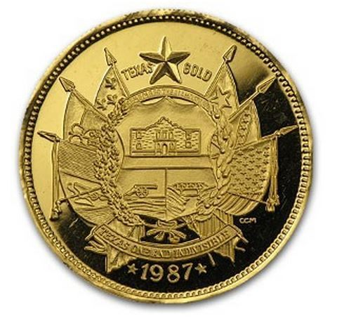 Official Texas Bullion gold coin