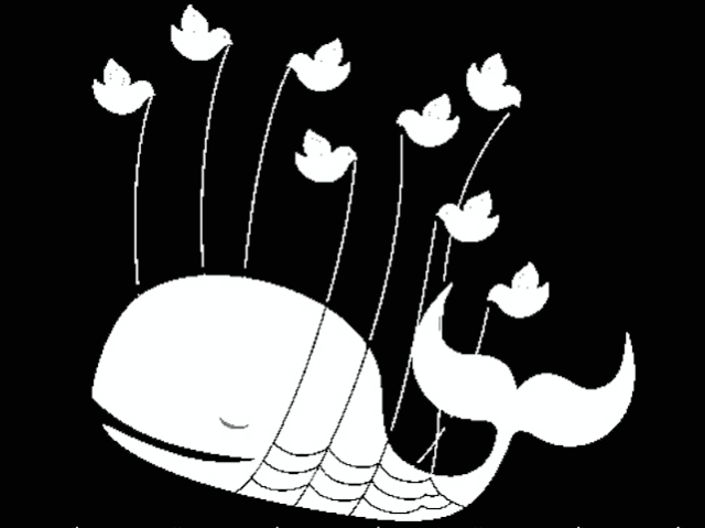 Twitter fail whale stencil (Wapster / Flickr / CC / Cropped)