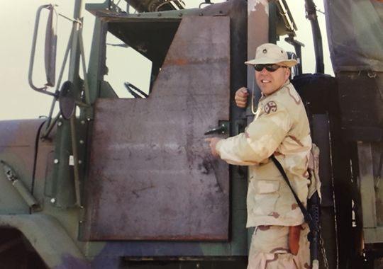 Sgt 1st Class Joseph Ros in Iraq