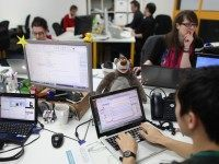 Tech workers (Oli Scarff / Getty)